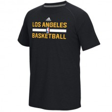 2016 NBA Los Angeles Lakers adidas On-Court Climalite Ultimate T-Shirt - Black