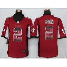 2016 New Nike Atlanta Falcons 2 Ryan Red Strobe Limited Jersey
