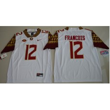 2016 NCAA Florida State Seminoles 12 Deondre Francois White College Football Limited Jersey