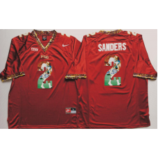 2016 NCAA Florida State Seminoles 2 Sanders Red Fashion Edition Jerseys