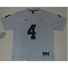 2016 NCAA Heather Gray Michigan Wolverines 4 Jim Harbaugh Gridiron Gray II College Football Limited Jerseys