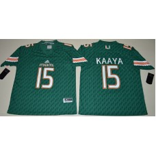 2016 NCAA Miami Hurricanes 15 Brad Kaaya Green College Football Jerseys