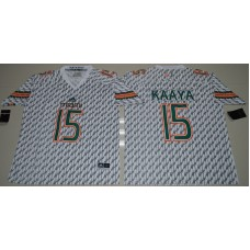 2016 NCAA Miami Hurricanes 15 Brad Kaaya White College Football Jerseys