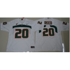 2016 NCAA Miami Hurricanes 20 Ed Reed White College Football Jersey