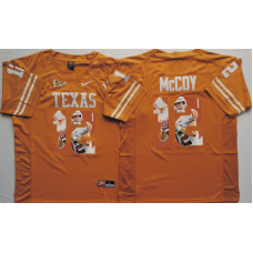 2016 NCAA Texas Longhorns 12 Mccoy Yellow Fashion Edition Jerseys
