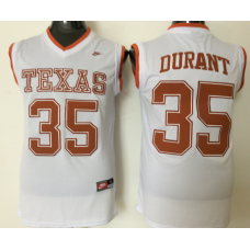 2016 NCAA Texas Longhorns 35 Durant White Jerseys