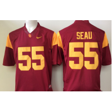 2016 NCAA USC Trojans 55 Seau Red Jerseys