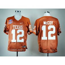 NCAA Texas Longhorns 12 Colt McCoy Burnt Orange BCS Patch College Football Jersey