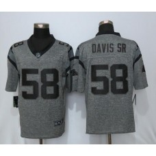 2016 Carolina Panthers 58 Davis sr Gray Men's Stitched Gridiron Gray NEW Nike Limited Jersey