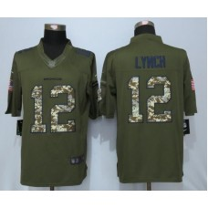 2016 Denver Broncos 12 Lynch Green Salute To Service NEW Nike Limited Jersey