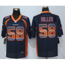 2016 Denver Broncos 58 Miller Navy Blue Strobe New Nike Limited Jersey