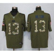 2016 Indianapolis Colts 13 Hilton Green Salute To Service New Nike Limited Jersey