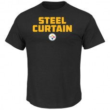 2016 NFL Pittsburgh Steelers Majestic Hot Phrase T-Shirt - Black