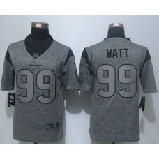 2016 New Nike Houston Texans 99 Watt Gray Men's Stitched Gridiron Gray Limited Jersey