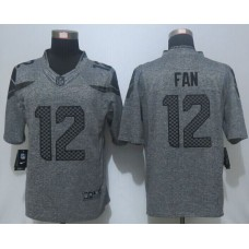 2016 New Nike Seattle Seahawks 12 Fan Gray Men's Stitched Gridiron Gray Limited Jersey