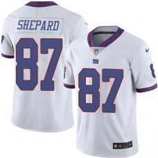 2016 Nike New York Giants 87 Sterling Shepard White NFL Limited Rush Jersey