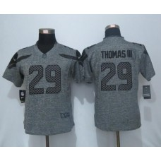 2016 Women New Nike Seattle Seahawks 29 Thomas III Gray Stitched Gridiron Gray Limited Jersey