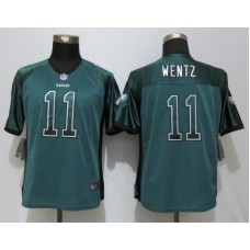 2016 Womens Philadelphia Eagles 11 Wentz Drift Fashion Green NEW Nike Elite Jerseys