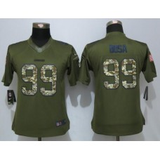 2016 Womens Los Angeles Chargers 99 Bosa Green Salute To Service New Nike Limited Jersey
