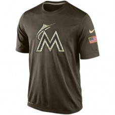 2016 Mens Miami Marlins Salute To Service Nike Dri-FIT T-Shirt