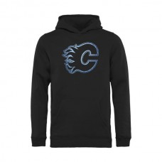 2016 NHL Calgary Flames Pond Hockey Pullover Hoodie - Black