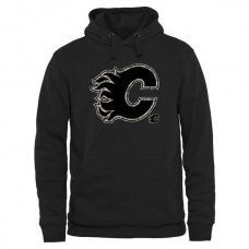 2016 NHL Mens Calgary Flames Black Rink Warrior Pullover Hoodie