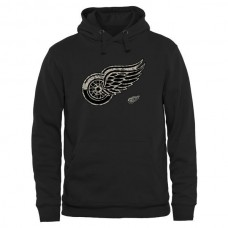 2016 NHL Mens Detroit Red Wings Black Rink Warrior Pullover Hoodie