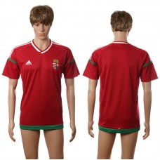 European Cup 2016 Hungary home blank red AAA+ soccer jerseys